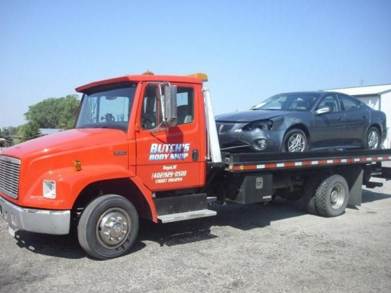 Towing services with Butch's Body Shop & Towing Royal, Nebraska