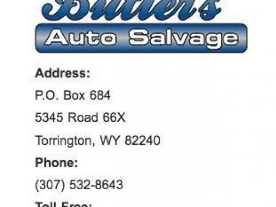 Butler's Auto Salvage Torrington, Wyoming