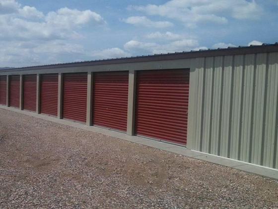 Self-storage garage units at Ron's Storage in Scottsbluff, NE