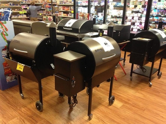 Grill selection at Dean's Traeger Grills in Norfolk, NE